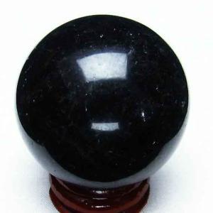 モリオン 純天然 黒水晶  丸玉 45mm t220-3628|ginza-todo