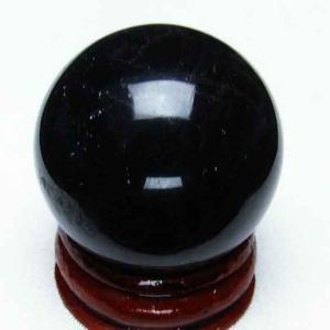 モリオン 純天然 黒水晶  丸玉 32mm t220-3672|ginza-todo