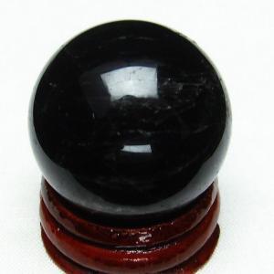 モリオン 純天然 黒水晶  丸玉 29mm  t220-4033|ginza-todo
