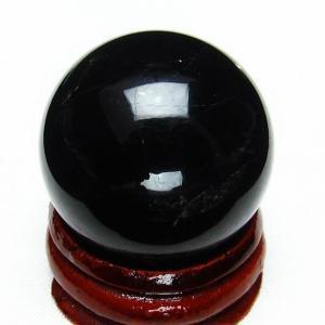 モリオン 純天然 黒水晶  丸玉 29mm  t220-4085|ginza-todo