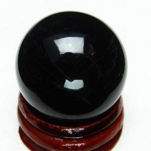モリオン 純天然 黒水晶  丸玉 28mm  t220-4094|ginza-todo