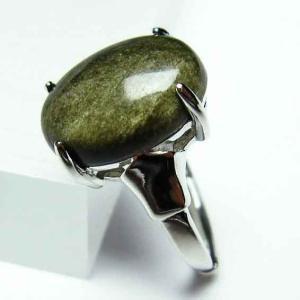 ゴールドキャッツアイオブシディアン  指輪 t275-18368|ginza-todo