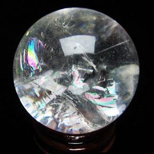 虹入りヒマラヤ水晶丸玉40mm t294-1954|ginza-todo