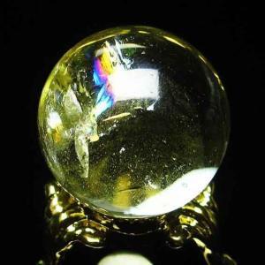 虹入り シトリン水晶 丸玉 25mm t294-2389 ginza-todo