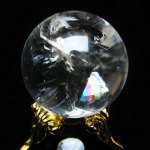 虹入り ヒマラヤ水晶 丸玉 24mm  t294-2613|ginza-todo