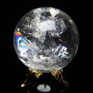 虹入り ヒマラヤ水晶 丸玉 31mm  t294-2653|ginza-todo