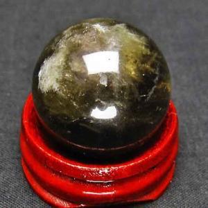 虹入り ライトニング水晶 丸玉 24mm t317-2286|ginza-todo