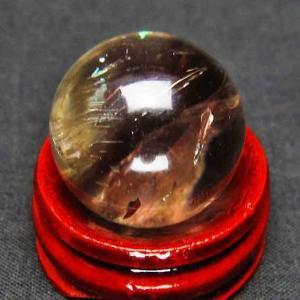 ライトニング水晶 丸玉 22mm t317-2408|ginza-todo