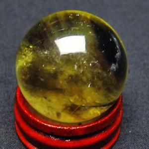 シトリン水晶 丸玉 28mm t318-2041|ginza-todo