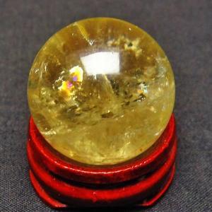 虹入り シトリン水晶 丸玉 26mm  t318-2429|ginza-todo