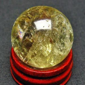 シトリン水晶 丸玉 26mm  t318-2528 ginza-todo