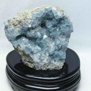 1.4Kg  セレスタイト 天青石 原石 t385-12853|ginza-todo
