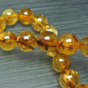 ゴールドタイチンルチル ブレスレット 11mm t473-2945|ginza-todo
