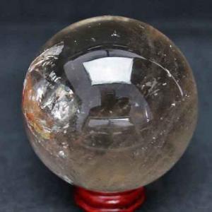 虹入り ライトニング水晶 丸玉 64mm t529-4688|ginza-todo