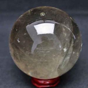 虹入り ライトニング水晶 丸玉 66mm t529-4691|ginza-todo