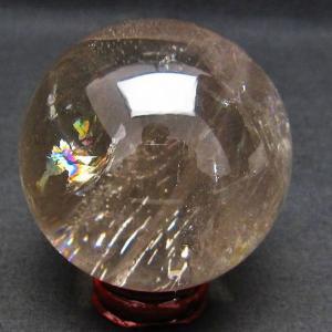ライトニング水晶 丸玉 60mm  t529-4737|ginza-todo