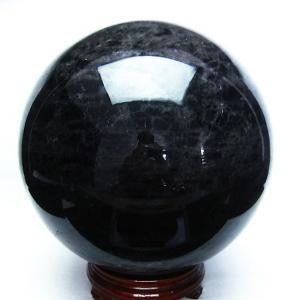 17.2Kg 黒水晶 丸玉 228mm  同梱不可 t572-6990|ginza-todo