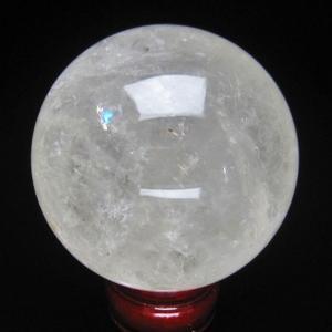 虹入り ヒマラヤ水晶 丸玉 80mm  t62-12881|ginza-todo