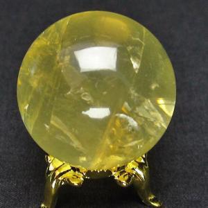 シトリン水晶 丸玉 34mm  t63-4863|ginza-todo