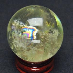 虹入り シトリン水晶 丸玉 38mm  t63-5074|ginza-todo