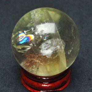 虹入り シトリン水晶 丸玉 36mm  t63-5076|ginza-todo