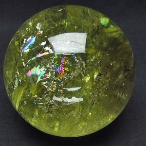 虹入り シトリン水晶ファントム 丸玉 76mm  t63-5338|ginza-todo