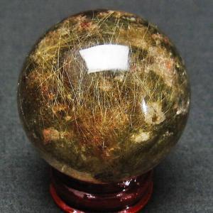 ガーデン水晶ルチル入り 水晶 丸玉 44mm t637-3094|ginza-todo