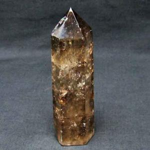 虹入り ライトニング水晶ガーデン水晶 六角柱 t705-4601|ginza-todo