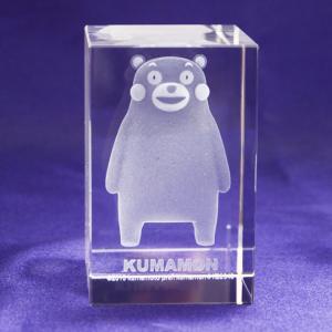 くまモン クリスタル3D彫刻ペーパーウェイト 【受注生産お届け2週間】|ginzagift