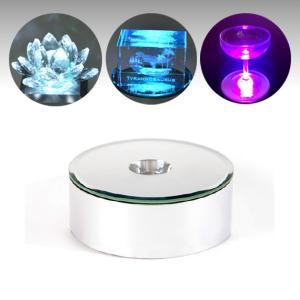 【新型LEDチップ搭載】 LEDライトステージ ディスプレイライト 台座 ミラータイプ フィギュアやディスプレイ展示に 【NKLS-13SL単品】|ginzagift