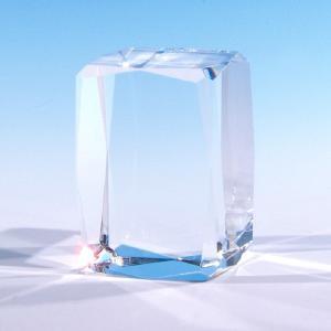 クリスタルペーパーウェイト ブロック24面カット NKTR-0055 ガラス素材 アクセサリーディスプレイ展示にも|ginzagift