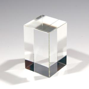 クリスタルガラスブロック  四角柱80×50mm アクセサリースタンドディスプレイ 展示品用 彫刻で記念品やノベルティにも|ginzagift