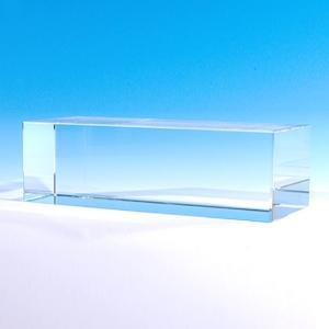 クリスタルガラスブロック特大 アクセサリースタンドディスプレイ 展示品用 彫刻で記念品やトロフィーにも ノーカット(150×50mm)|ginzagift