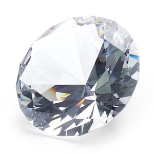 クリスタルガラス ダイヤモンド クリア大80Φ  ディスプレイ インテリア サンキャッチャー|ginzagift