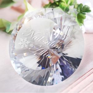 クリスタルダイヤ80φ 彫刻代込み ネイルサロンのディスプレイや記念品に|ginzagift