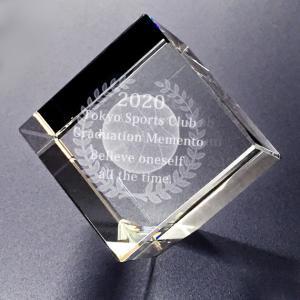 【お届け2週間】 記念品、メッセージ彫刻3D立体バスケットボール クリスタルペーパーウェイト【彫刻代込み】 圧角50mm斜め置き|ginzagift