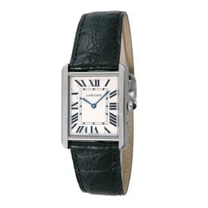 カルティエ Cartier 腕時計 タンクソロ W5200003 ホワイト|ginzahappiness
