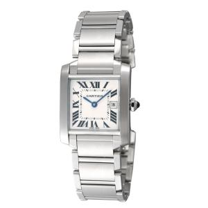 カルティエ Cartier 腕時計 タンクフランセーズ W51011Q3 ホワイト|ginzahappiness