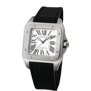 カルティエ Cartier 腕時計 サントス100 W20106X8 ホワイト|ginzahappiness