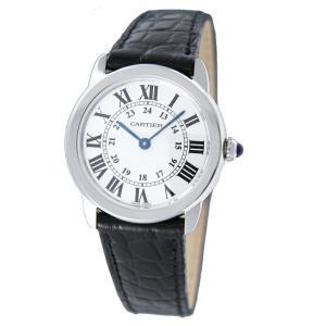 カルティエ Cartier 腕時計 ロンドソロ W6700155 ホワイト|ginzahappiness