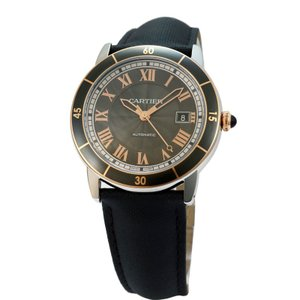 カルティエ Cartier 腕時計 ロンド クロワジエール ドゥ カルティエ W2RN0005 ブラック|ginzahappiness