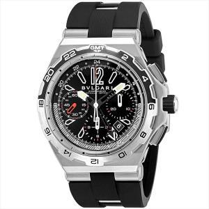 ブルガリ BVLGARI 腕時計 ディアゴノプロフェッショナル DP45BSTVDCH/GMT ブラック ginzahappiness