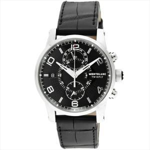 モンブラン Montblanc 腕時計 TIMEWALKER ブラック 105077|ginzahappiness