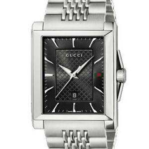 グッチ GUCCI 腕時計 G-タイムレス コレクション ミディアム レクタングル YA138401 BK/SS|ginzahappiness