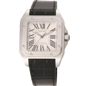 カルティエ Cartier 腕時計 サントス100 W20073X8 シルバー|ginzahappiness