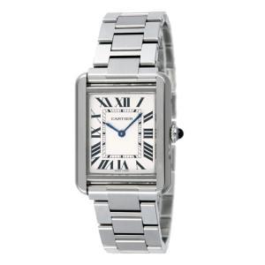 カルティエ Cartier 腕時計 タンクソロ W5200013 ホワイト|ginzahappiness