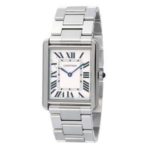 カルティエ Cartier 腕時計 タンクソロ W5200014 ホワイト|ginzahappiness