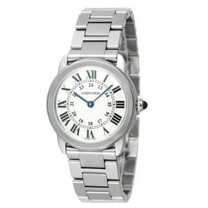 カルティエ Cartier 腕時計 ロンドソロ W6701004 ホワイト|ginzahappiness