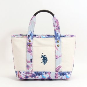 ab590119db ユーエスポロアッスン U.S.POLO ASSN トートバッグ US1876 REVIVAL FLOWER TOTE LAVENDER