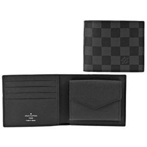 ルイヴィトン LOUIS VUITTON 二つ折財布 ポルトフォイユ・マルコ NM N63336 Graphite